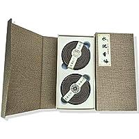天然沉香、新築の家の空気浄化、お香 渦巻型線香 4時間盤香96盤 (メロウ水瀋香-2箱)