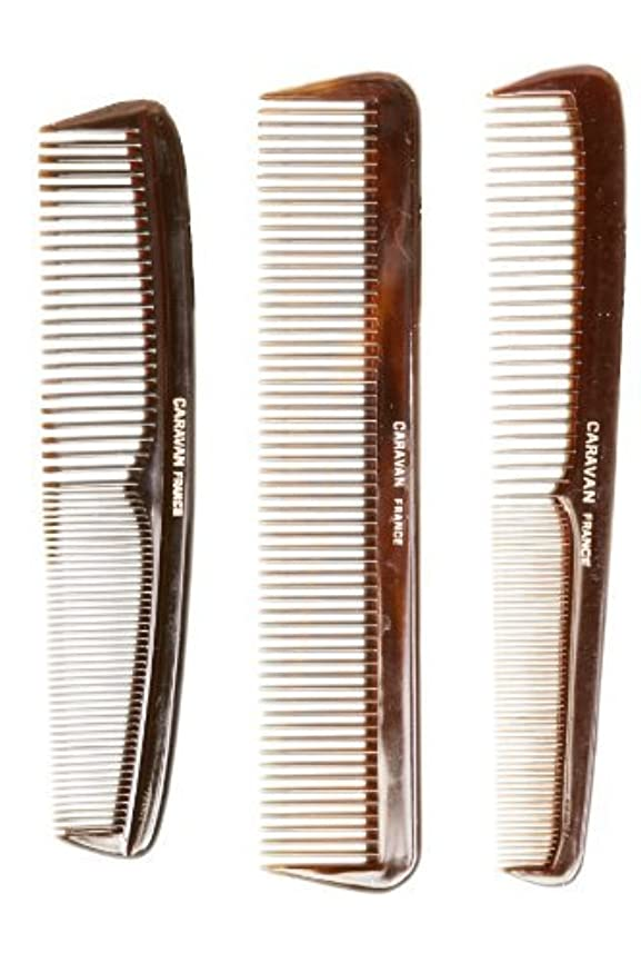ハーブ並外れたシンカンCaravan Tortoise Set Of 3 Shell Comb, French Full [並行輸入品]