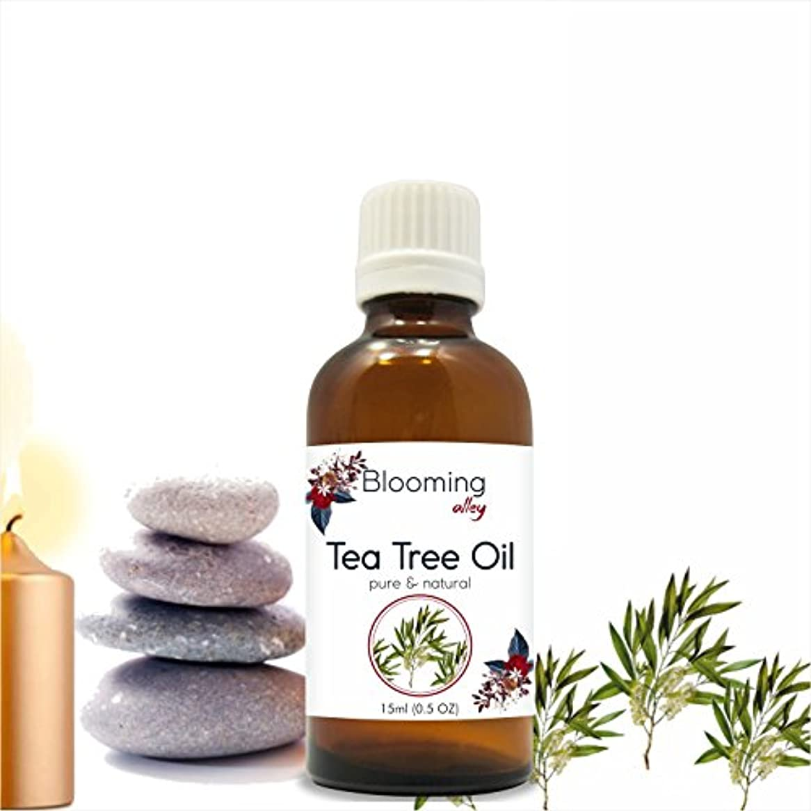 スリップ新鮮な分類Tea Tree Oil (Melaleuca Alternifolia) Essential Oil 15 ml or .50 Fl Oz by Blooming Alley