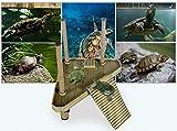 Motina 爬虫類・カメ用 浮桟橋 カメの浮き島 水槽の飾り フローティングランド アクセサリー