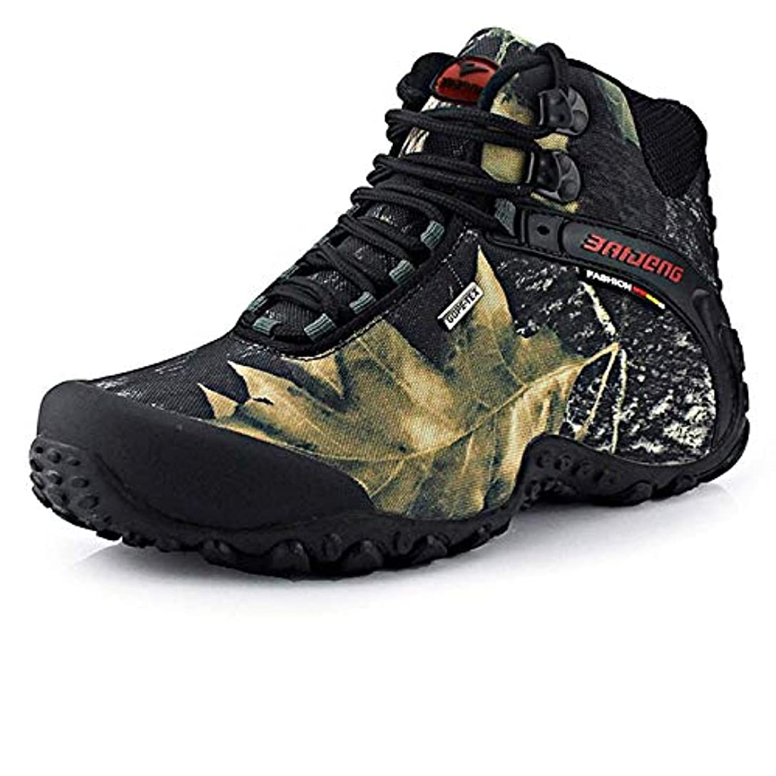 コショウ好ましいお祝いトレッキングシューズ 登山靴 メンズ 防水 滑り止め 大きいサイズ 迷彩柄 ハイカット 耐久 吸汗 クッション性 通気性 トレッキング/キャンプ ハイキングシューズ