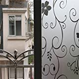 Generic New Arrival Removable Waterproof Privacy Frosted Glass Window Opaque Film Dandelion Stickers Film Nice Window Art Decor
