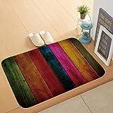 Bath Mat Non-Slip Absorbent Soft Mat,Solid Wood Floor Printing pad,Suitable for Bathroom Living Room Kitchen Bedroom,40 * 60cm,5