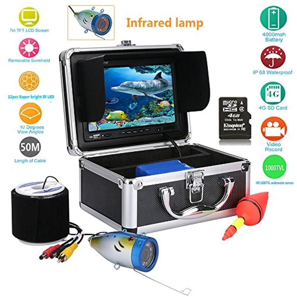 アシュリータファーマンフォーカスクレーン水中魚群探知機HD 7インチTFTカラーディスプレイCCDとHD View 1000 TVLカメラキット(50M)