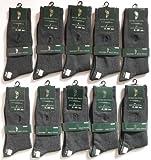 WESTERN POLO TEXASウエスタンポロテキサス紳士靴下「両面刺繍ビジネスカジュアルソックス(ダークグレー)25-27cm」10足セット
