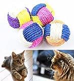 【MM-64】 猫ちゃんのおもちゃ ボールに夢中 3色ボール かじって歯石防止 (2個セット)