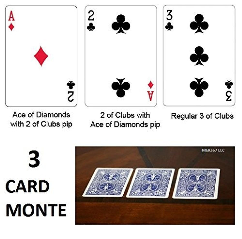 Bicycle Blue Back 3 Card Monte Magic Trick [並行輸入品]