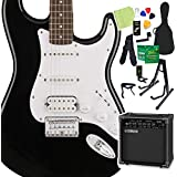 Squier by Fender Bullet Stratocaster HSS Hard Tail Black エレキギター 初心者14点セット ヤマハアンプ付 ストラトキャスター スクワイヤー/スクワイア
