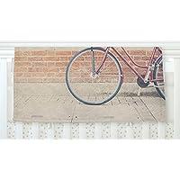 KESS InHouse Laura Evans A Red Bicycle Orange Brown Fleece Baby Blanket 40 x 30 [並行輸入品]