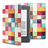 Infiland Kindle 2016 カバー Amazon Kindle (Newモデル)ケース オートスリープ 全保護型ケース