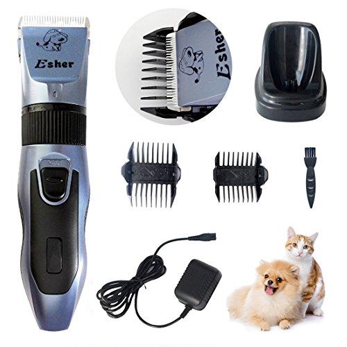 ペット用バリカン 犬猫用クリッパー シェーバー 低騒音・高性能 業務用 Esher ネイビー