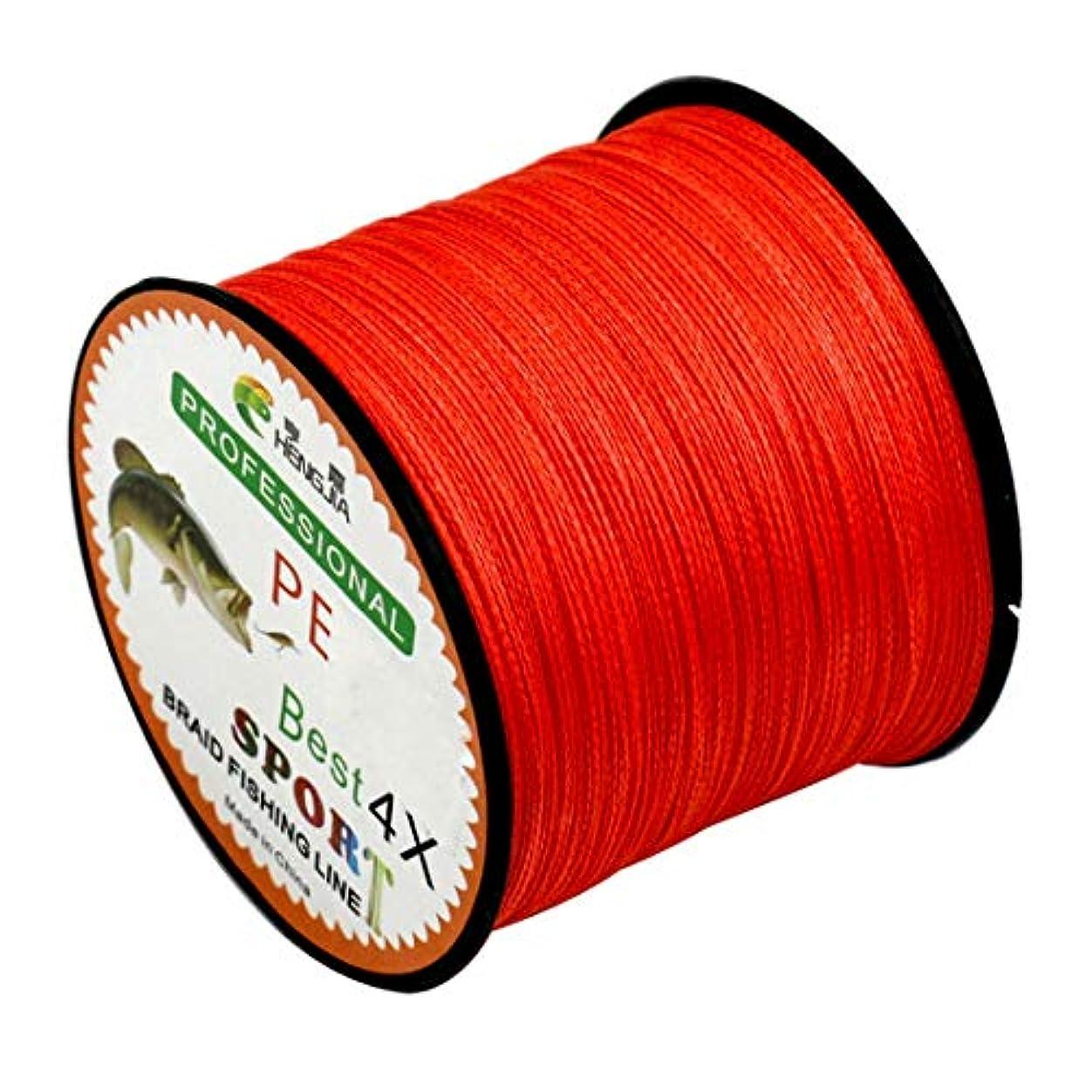 平等全部雨のWTYD アウトドア釣り用品 1.5#0.20mm 22LB 9kg張力500m超強力4紐編組PEフィッシングラインカイトライン アウトドアに使う (色 : Red)