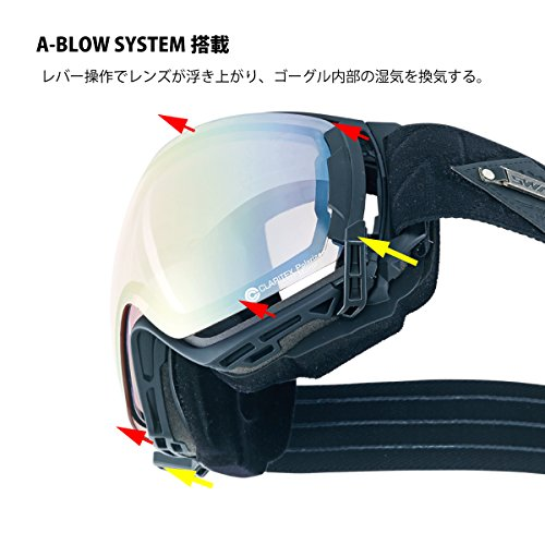 SWANS(スワンズ) ゴーグル スキー スノーボード 偏光レンズ ミラー 呼吸するゴーグル ロヴォ [ROV]O-MPDH-SC-PAF SKBL スカイブルー