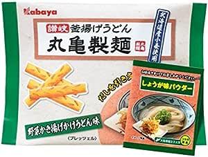 カバヤ 丸亀製麺プレッツェル 野菜かき揚げかけうどん味 38g×10袋