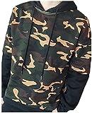 (アルファーフープ) α-HOOP メンズファッション カモフラ フード付き プルオーバー パーカー 長袖 上着 迷彩服 アウター 大きいサイズ も S ~ XXL まで DP-2 (15.ブラック(XXL))