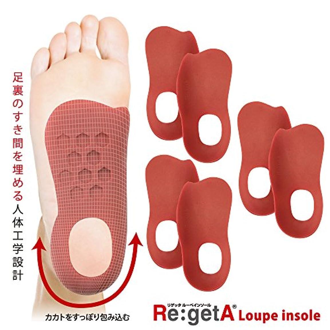 刺激するウナギ長方形リゲッタ(Re:getA) ルーペインソール ロッソ 3足組 レディスサイズ 21.5-25.0cm対応