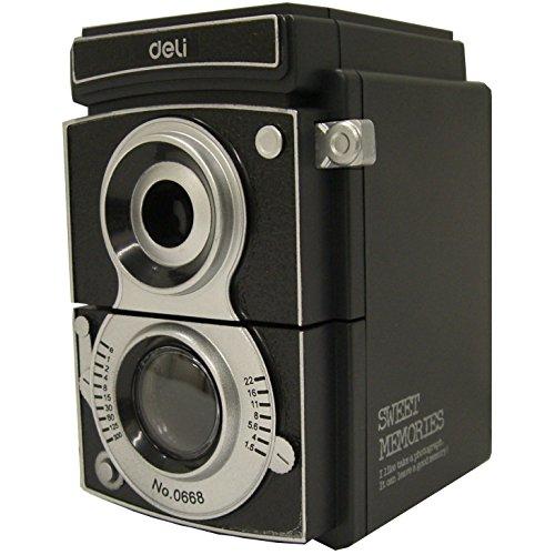 deli カメラ型 ペンシルシャープナー 668 黒