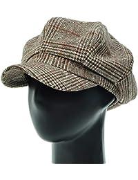 [PLIC N PLOC]EMN07.ビッググレンチェックレトロメンズレディース ベレー帽 鳥打ち帽 ハンチングフラットキャップ