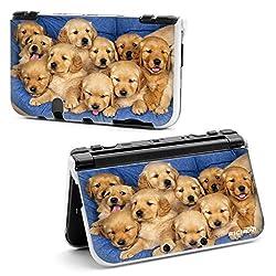 RICHEN 【Nintendo New 3DS LL XL】用 プラスチック保護ケース 収納カバー ハード外壳 プロテクター (子犬)