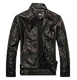 (ラクエスト) Laquest ライダースジャケット 皮ジャン 本革調 (XL,ブラック)