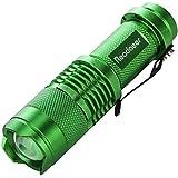 Readaeer® 超小型 LED 懐中電灯 ハンディライト ズームフォーカス機能付 軍事用 防水 防災