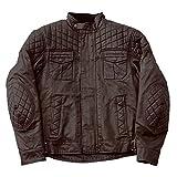 FASTER SONS(ファスターサンズ) バイクジャケット FS03 ワックスコットンジャケット ブラウン XLサイズ(Q5D-DEG-Y02-00X)