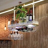 ワインラック ハンギングワインラックバーゴブレットスタンドクリエイティブ倒立ワイングラスホルダーワインラック カップホルダー (Color : B, Size : 60*28*12cm)
