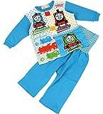 【きかんしゃトーマス】お着替え練習パジャマ上下セット 【t7006】 80cm サックス