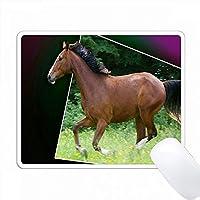 馬ギャロッピング抽象絵画の印刷 PC Mouse Pad パソコン マウスパッド