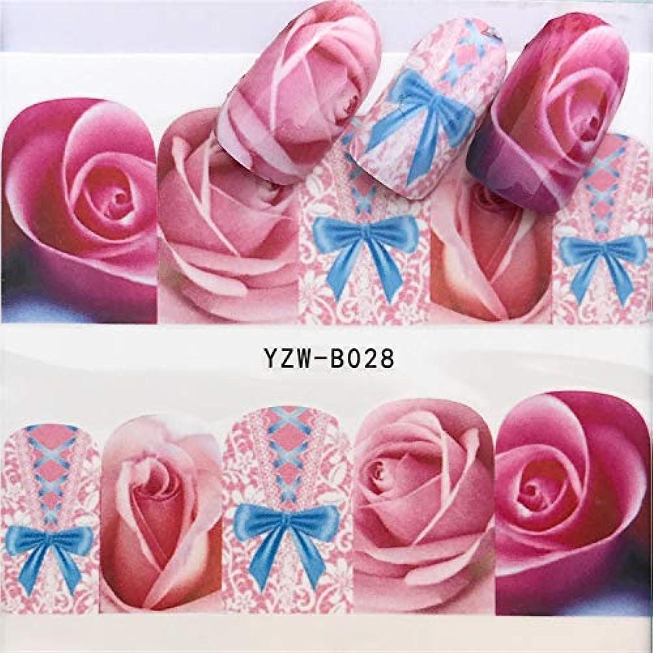 Yan 3個ネイルステッカーセットデカール水転写スライダーネイルアートデコレーション、色:YZWB028