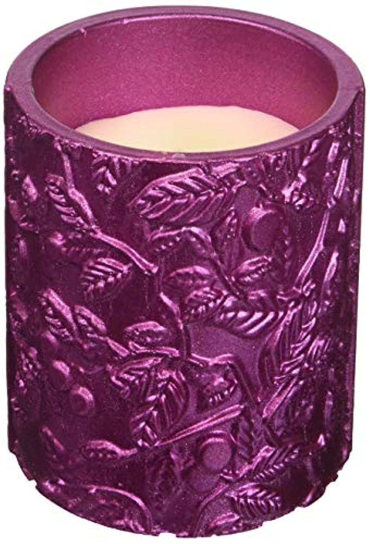 アリ不公平ティームCandellana Candles キャンドルフォート コンクリートキャンドル - 落ち着いたピンクメタリック 香り: レモングラス