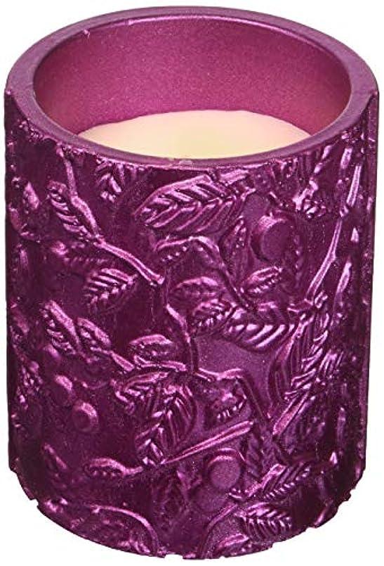 新しい意味寝る放映Candellana Candles キャンドルフォート コンクリートキャンドル - 落ち着いたピンクメタリック 香り: レモングラス