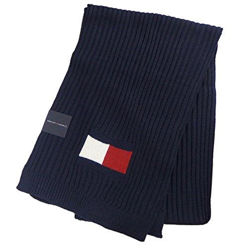 トミーヒルフィガー TOMMY HILFIGER マフラー Knit Logo Scarf ニット ロゴ スカーフ H8C73220 (ネイビー) [並行輸入品]
