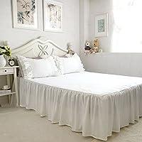 無地 ホワイト綿100%ベッドカバー 1枚 100*200+45cm シングル