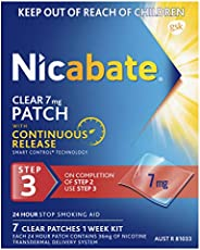 Nicabate Nicabate Clear Patch, Quit Smoking, Step 3 for Nicotine Craving Control, 7 mg 7 Patches, Clear 7 Pack