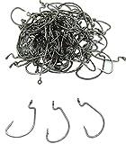 【Micopuella】 オフセットフック ワームフック 100本セット 釣り針 (#2/0)