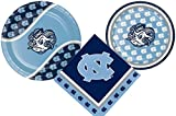 University of North CarolinaパーティーSupplyパック。バンドルIncludes Paper Plates & 8 Tarheelゲストのナプキン