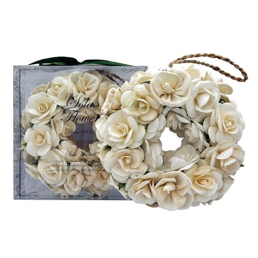 良い圧倒的ラテンnew Sola Flower ソラフラワー リース Gentle Rose ジェントルローズ Wreath