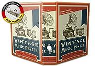 バインダー 2 Ring Binder Lever Arch Folder A4 printed Vintage music