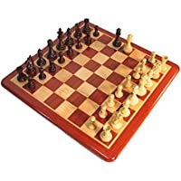 Crimson Rosewood Phalanx Chess Set w/ Inlaid Padouk Board
