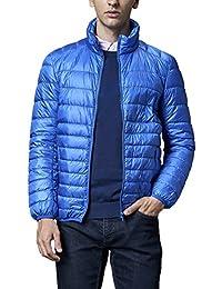 Mr.Stream メンズ 軽量 ダウンジャケット アウトドア カジュアル登山防風防寒コート 収納袋付き