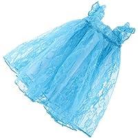 【ノーブランド品】 ファッション  プリンセス   レース  ドレス  スカート  服装  1/3 1/4 BJD SD LUTSドルフィー人形用 8色選べる  - ブルー