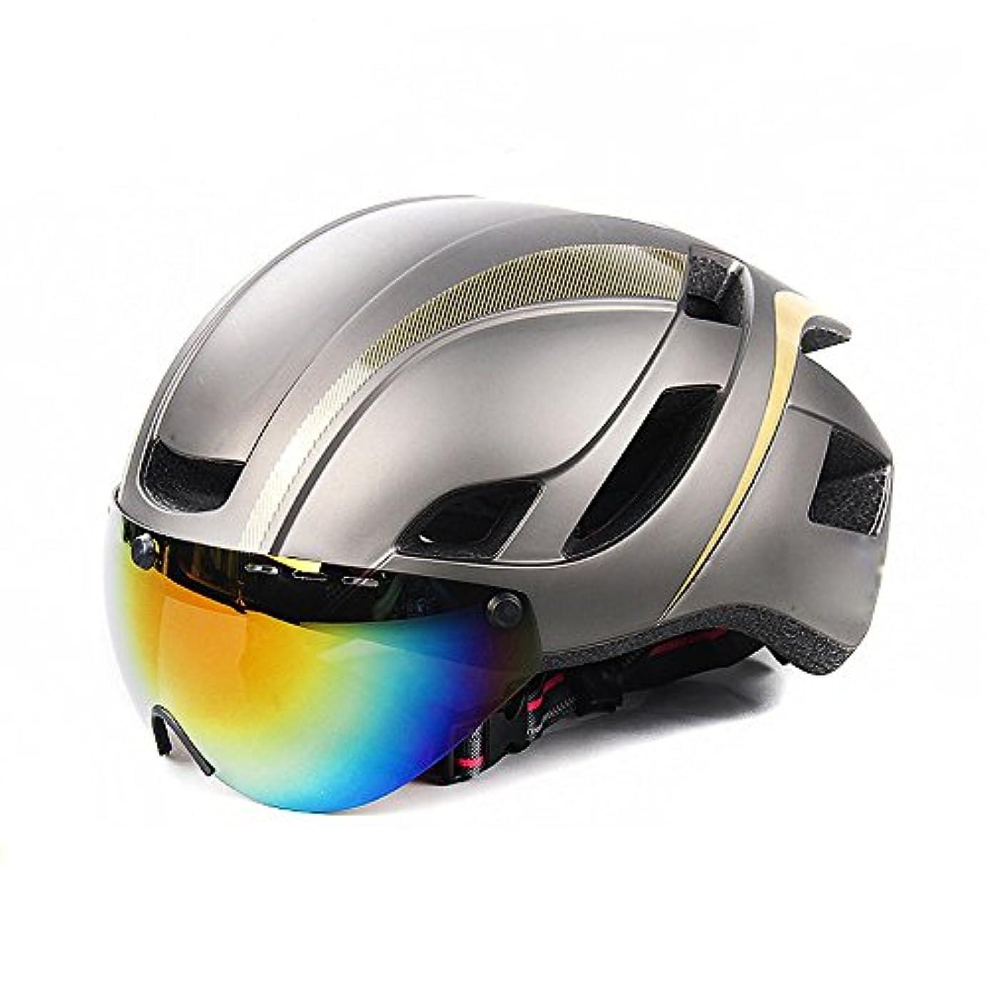 禁輸フルーツこんにちは着脱自在の磁気ゴーグル付きサイクリング自転車ヘルメットバイザーシールドfor男性男性用マウンテン&ロードバイクヘルメット調節可能なアダルトセーフティプロテクションと通気性