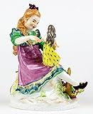 古マイセン ヘンチェル フィギュア フィギュリン 少女と人形 1911年 ヘルミッヒ作 限定 アンティーク 極美 完全体