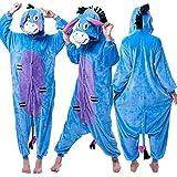 Onesie World Unisex Animal Pyjamas Cosplay Eeyore Adult Onesie Nightwear Halloween Carnival Novelty