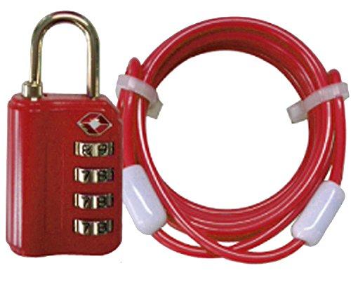 アメリカ安全運輸局認定 TSA 4ダイヤルロック 鍵 (1....