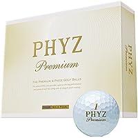 BRIDGESTONE(ブリヂストン) ゴルフボール PHYZ プレミアム 1ダース(12個入り) ゴールドパール PMGX