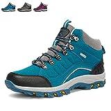 [レロコ] トレッキングシューズ メンズ 登山靴 アウトドア 防滑 防水 登山靴 ハイキングシューズ 防滑 防水 透気 保温 通販 軽量 ブルー 23.5cm 藍37
