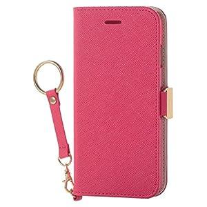 エレコム iPhone8 ケース カバー 手帳型 レザー サイドマグネット ストラップ付き for Girl iPhone7 対応 ディープピンク PM-A17MPLFJPND