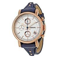 [フォッシル] FOSSIL 腕時計 Boyfriend Chronograph Silver Dial Ladies Watch レディース ES3838 [並行輸入品]
